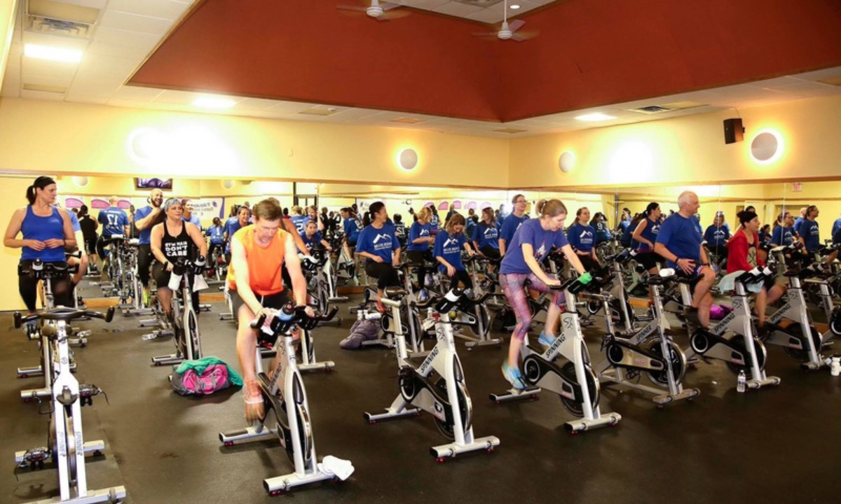Local spin class event benefits childhood cancer research