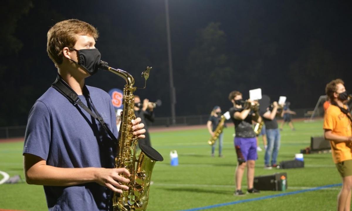 SU marching band prepares for unpredictable season, navigating COVID-19