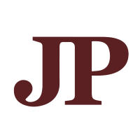 Maroon JP Logo with transparent background